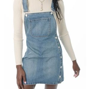 Free people denim Overall dress Louise skirtall